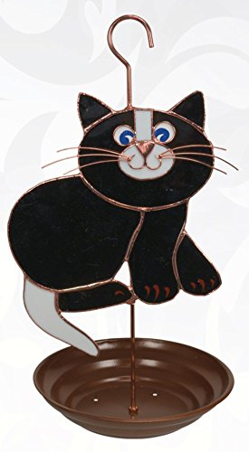 Gift Essentials GE196 Black Cat Bird Feeder