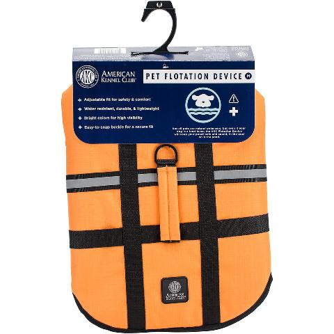 BH Pet Gear AK9001-01930 AKC Flotation Vest, Orange - Large