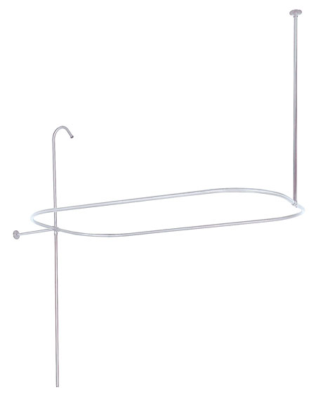 Kingston Brass ABT1040-1 Oval-Shape Shower Riser With Enclosure - Polished Chrome