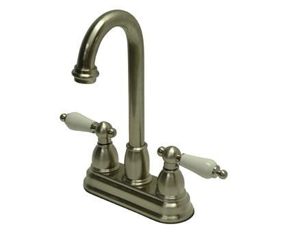 Kingston Brass KB3498PL 4 Inch Center Bar Faucet - Satin Nickel