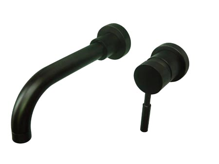 Kingston Brass KS8115DL Single Lever Handle Wall Mount Sink Faucet - Oil Rubbed Bronze