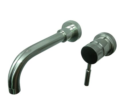 Kingston Brass KS8118DL Single Lever Handle Wall Mount Sink Faucet - Satin Nickel