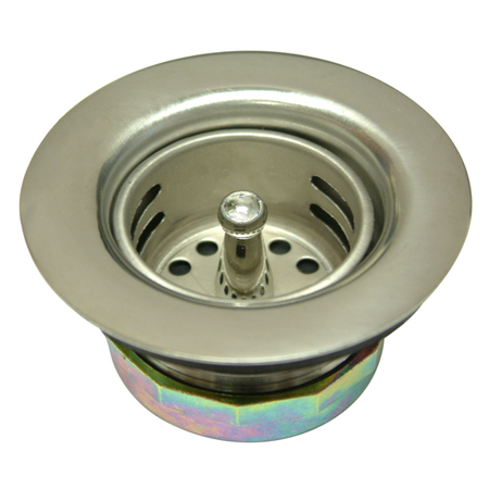 Kingston Brass K461 Stainless Steel Duo Strainer For Bar Sink- - D 2-.722 Inch X - H 1-.625 Inch