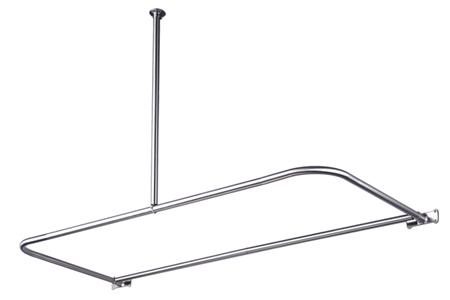 Kingston Brass CC3131 D-Shape Shower Rod - Polished Chrome