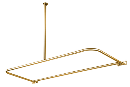 Kingston Brass CC3132 D-Shape Shower Rod - Polished Brass