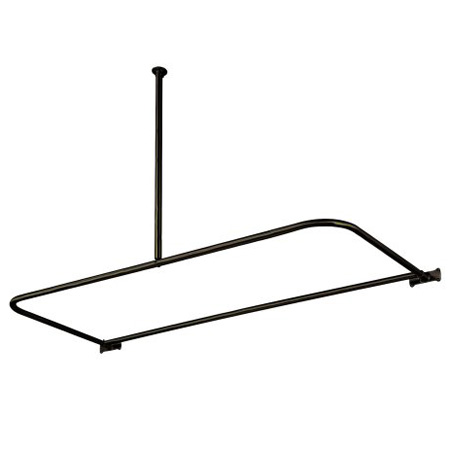 Kingston Brass CC3135 D-Shape Shower Rod - Oil Rubbed Bronze