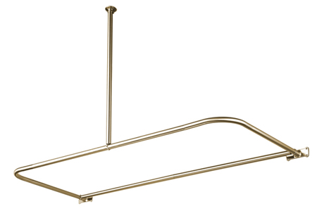 Kingston Brass CC3138 D-Shape Shower Rod - Satin Nickel