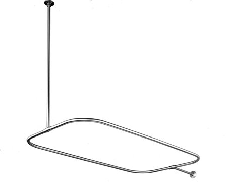 Kingston Brass CC3151 Shower Ring With Ceiling Support - Polished Chrome