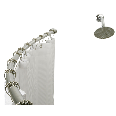 Kingston Brass CC3171 Curved Shower Rod - Polished Chrome